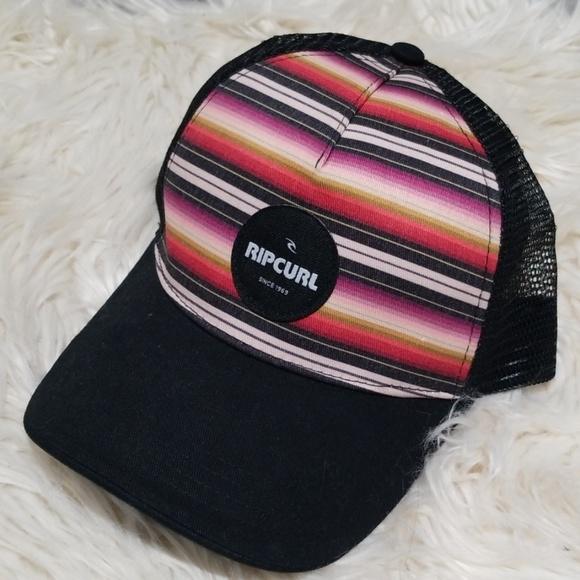 ec7a7daeb NWT Rip Curl snapback hat Multicolored stripes blk